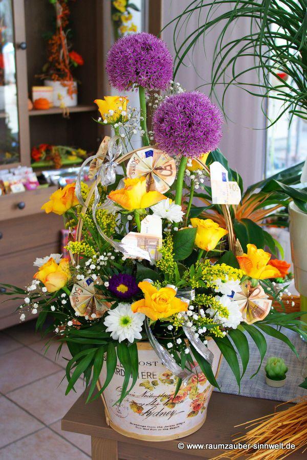 Hochzeitsgeschenk - gepflanzt hatten wir übrigens 5,- Euro-Scheine