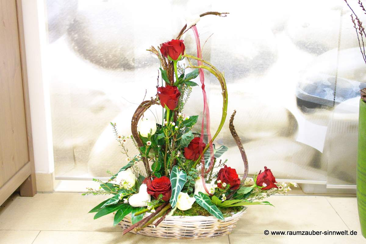 Gesteck mit frischen Schnittblumen