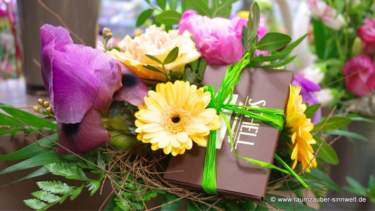 Schokoladige Blumengrüße