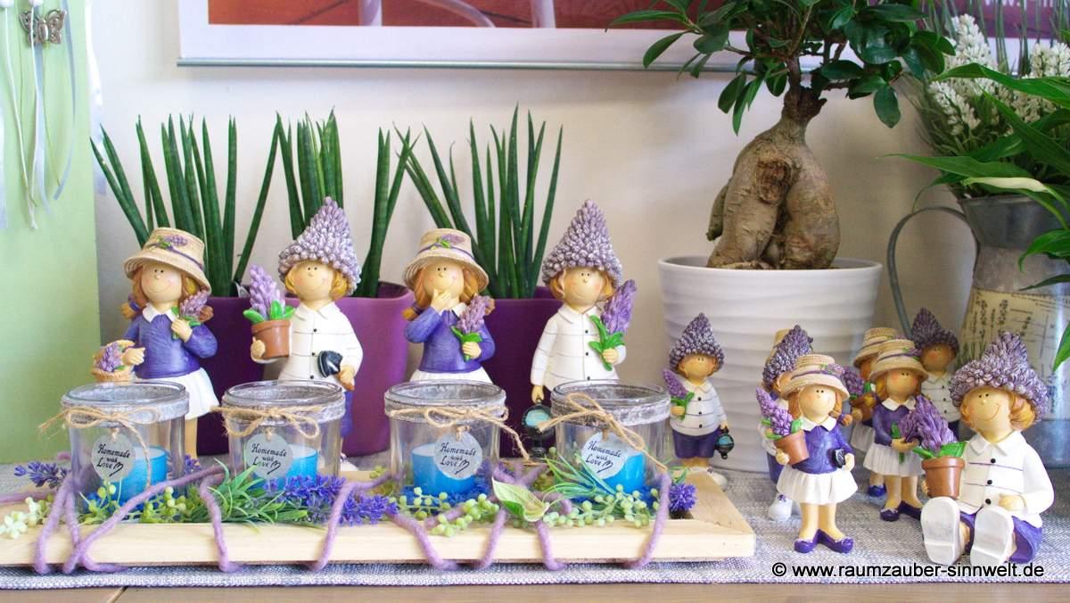 Lavendelkinder - vertragen sich auch gut mit den Lavendelzwergen!