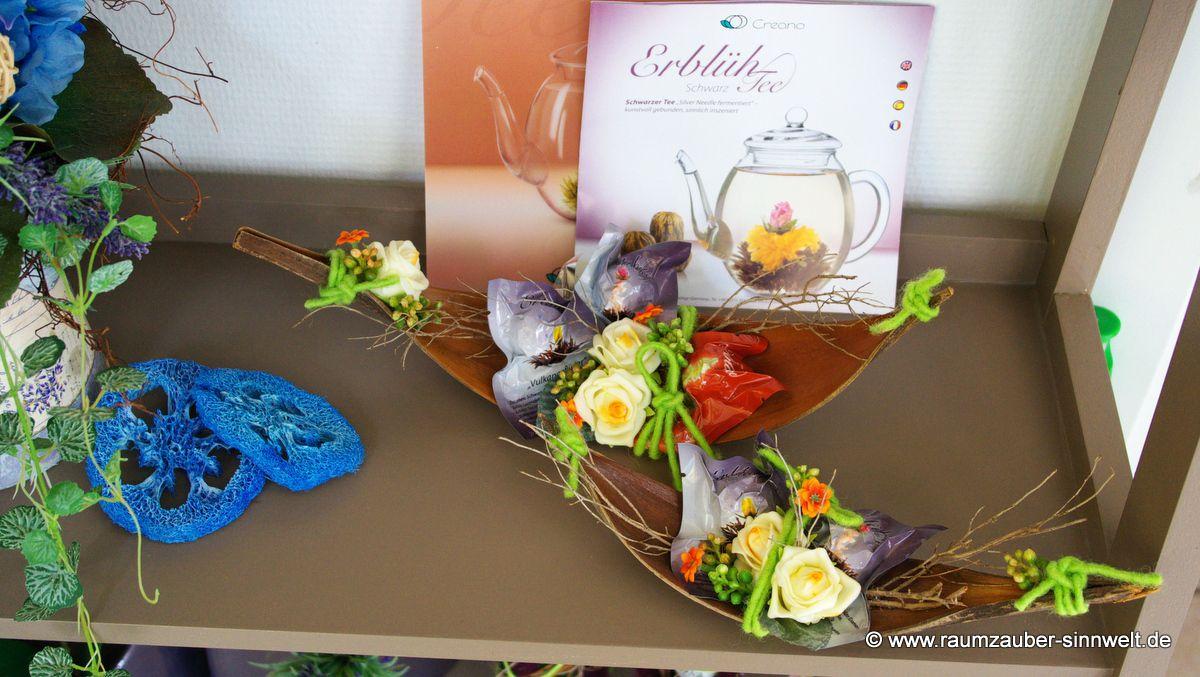Ein Geschenk für alle Sinne: Erblüh-Teekugeln