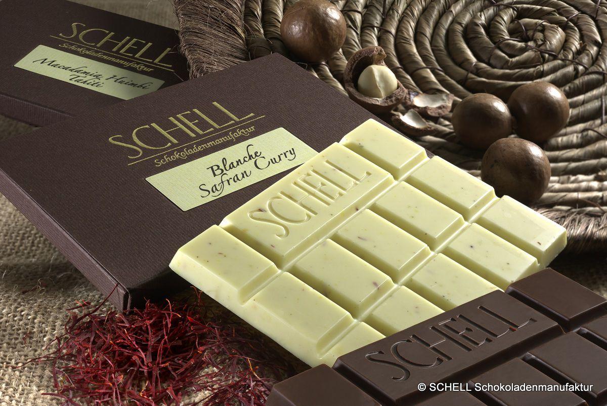 Schokolade macht glücklich: Weiße und Vollmilchschokoladen aus der SCHELL Schokoladenmanufaktur