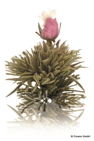 Juweltröpfchen - Silver-Needle mit Blüten der Rose (Damascena) und Jasmin