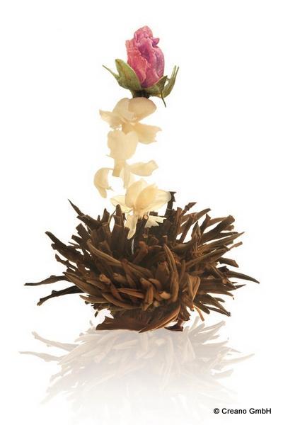 Rote Affäre - Silver Needle fermentiert mit Blüten der Rose (Damascena) und Jasmin
