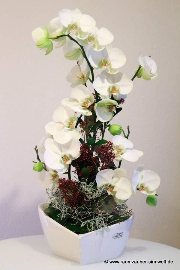 Blumengesteck mit Orchideen