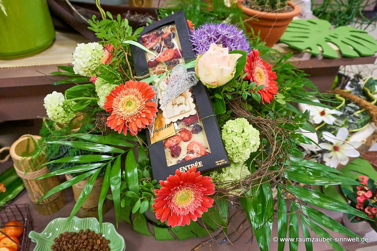 Blumenstrauß mit Schokolade von chocoMe