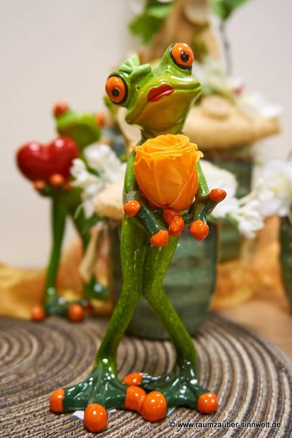 Yoga-Frosch oder Keramikfrosch von Formano