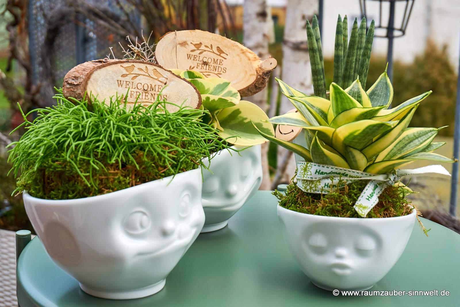 FIFTYEIGHT PRODUCTS Schalen glücklich, küssend und lecker mit Pflanzen