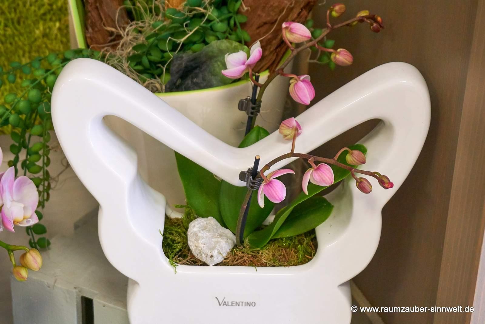 Orchidee in edler VALENTINO - Keramik