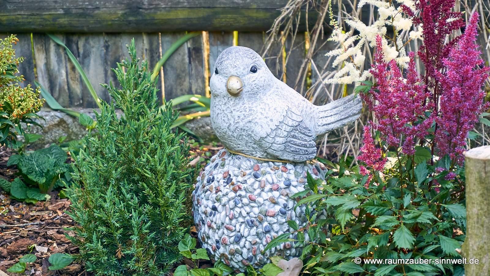 Dekofigur Vogel auf Kugel Stones von formano