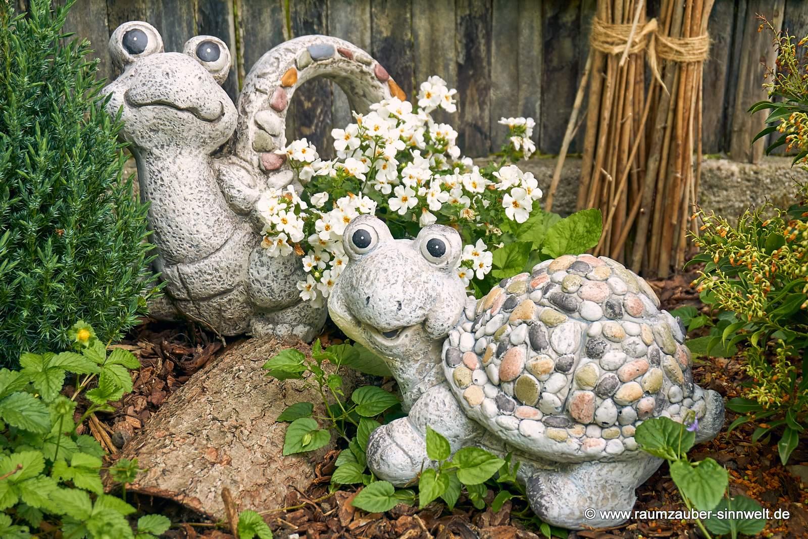 Dekofigur Schildkröte und Pflanzkübel Schildkröte Stones von formano