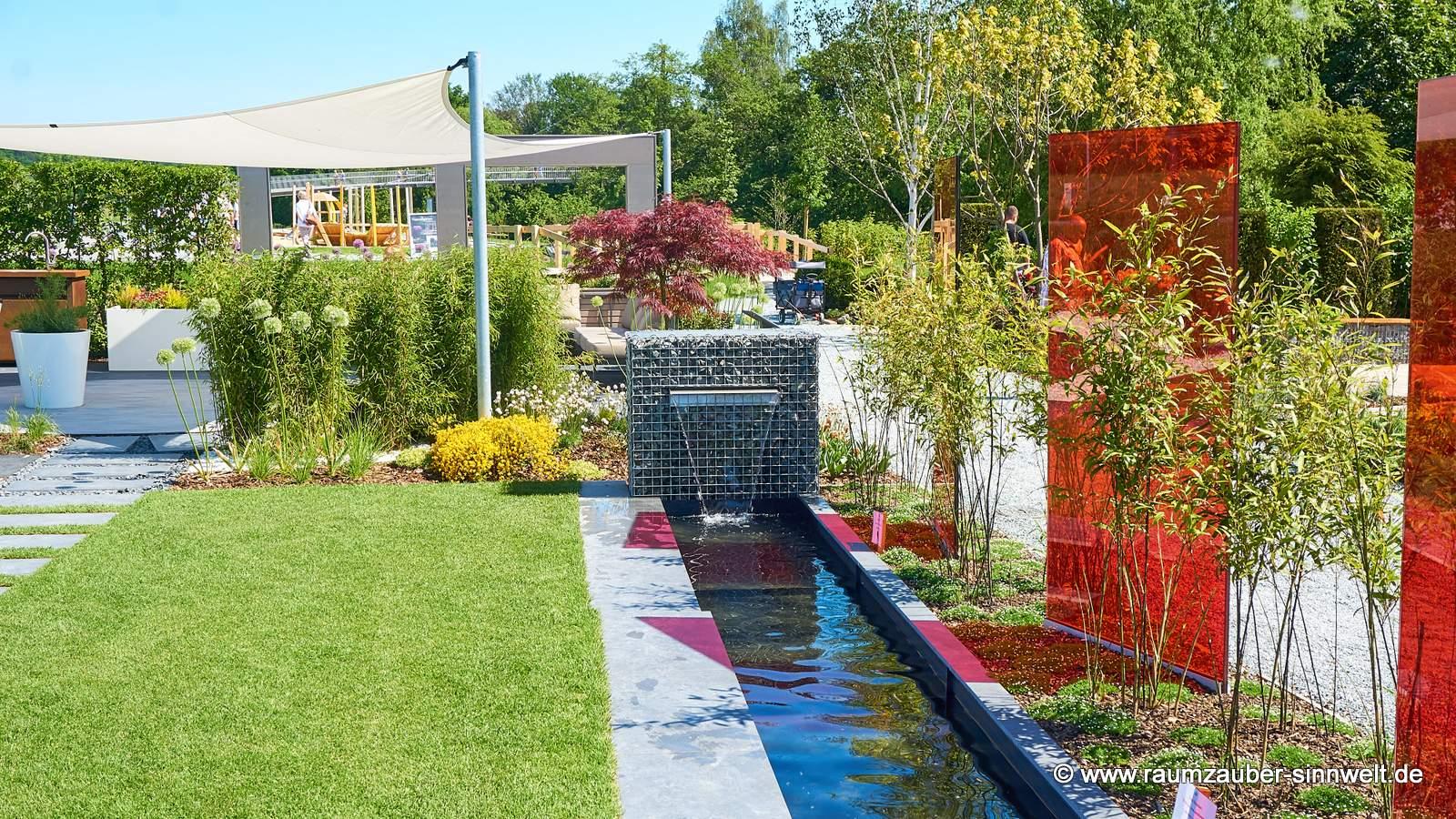 Gartengestaltung mit Wasserspiel