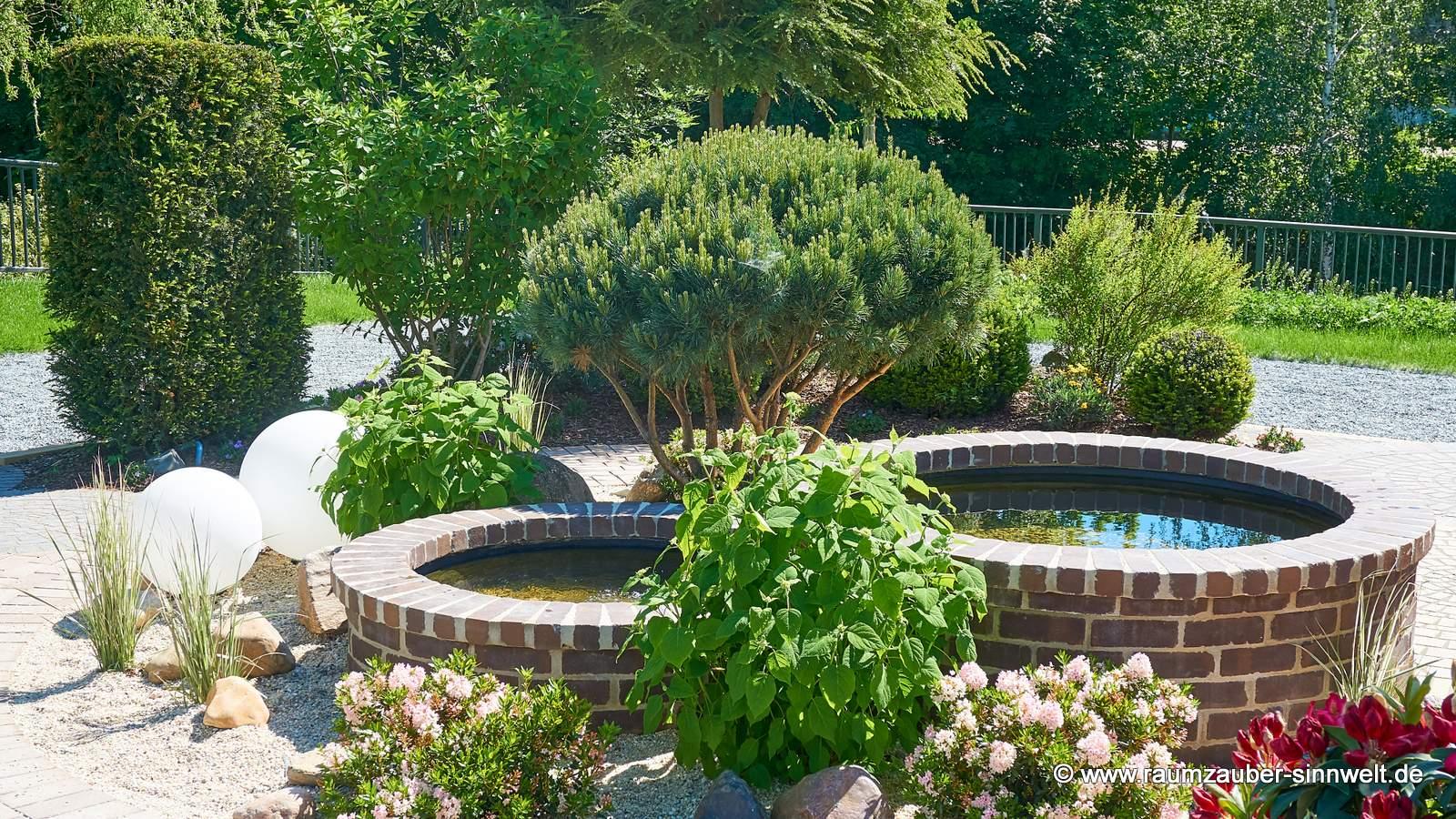 Gartengestaltung mit Wasserelementen