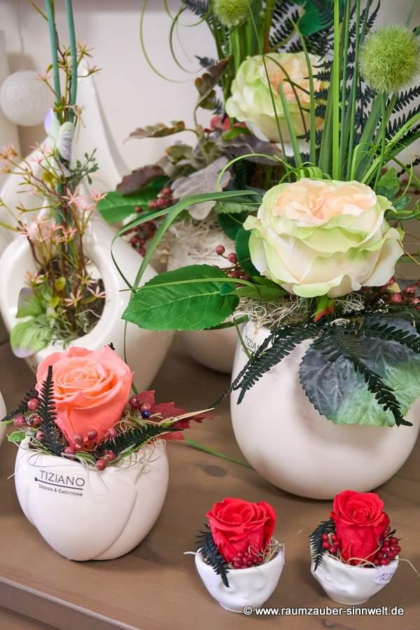 Trockendekorationen mit gefriergetrockneter Rose