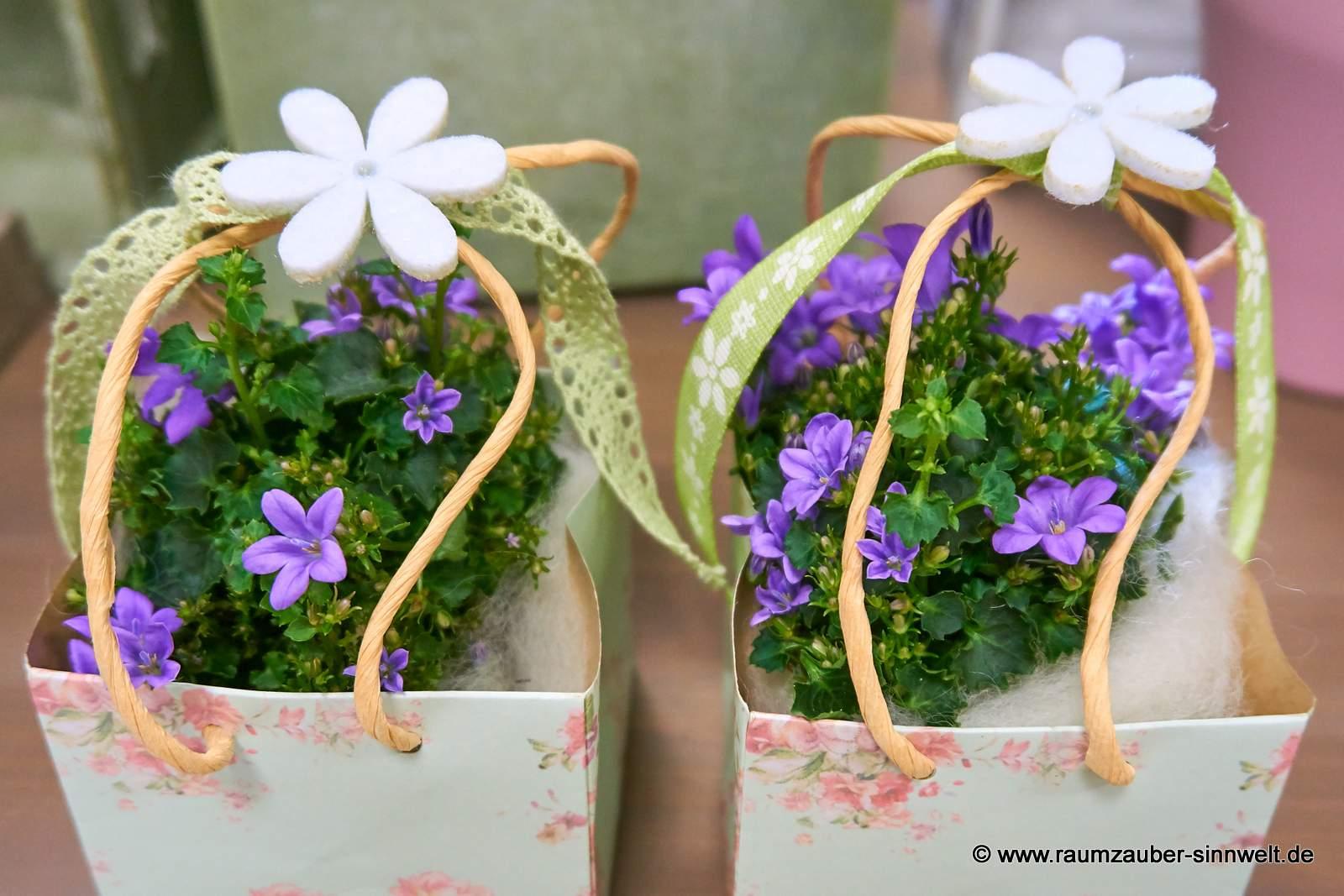 dekorierte Glockenblumen