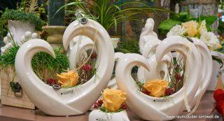 gefriergetrocknete Rosen in TIZIANO - Herz - Gefäß Cuora