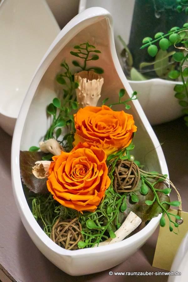 gefriergetrocknete Rose in TIZIANO - Schale Selene
